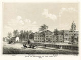 View of buildings in the Park, N.Y., 1809.