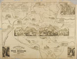 Leavitt's map with views of the White Mountains, New Hampshire ; 1859