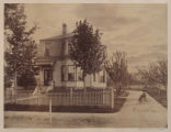 [Unidentified suburban house in the Second Empire style].