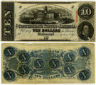 [Confederate currency, 10 dollar bills, type 59]