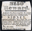 $150 reward : I will give the above reward for the capture and delivery to the jailor of Jasper,...