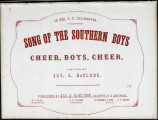 The Southern boys, or, Song of the Tennessee troops