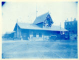 051- Old Passenger Station of the New England R.R. [View of Front Façade – Summer Street]. In the...