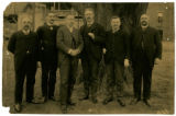 009- [Group Portrait of Six Unidentified Businessmen] In the Boston & Albany R.R. – Boston...