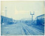 039- Utica St.  West End from Opposite End of Train Shed. In the Boston & Albany R.R. – Boston...