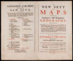 00- A new sett of maps both of ancient and present geography ... : together with a Geographical...