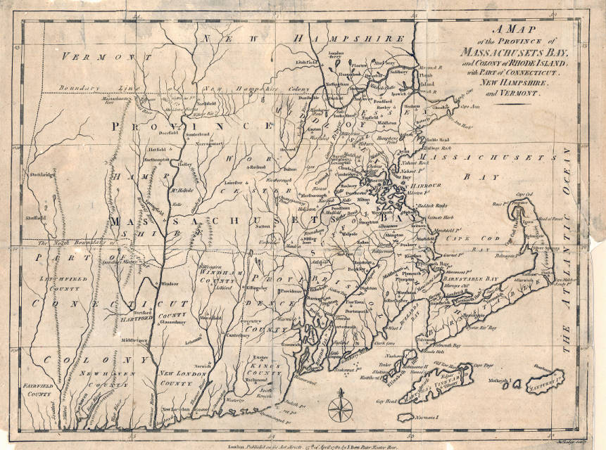 A map of the Province of Machusetts Bay and Colony of ... Machusetts New Hampshire Map on